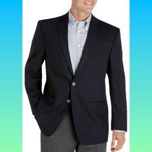 Calvin Klein slim fit navy wool blazer size 42R